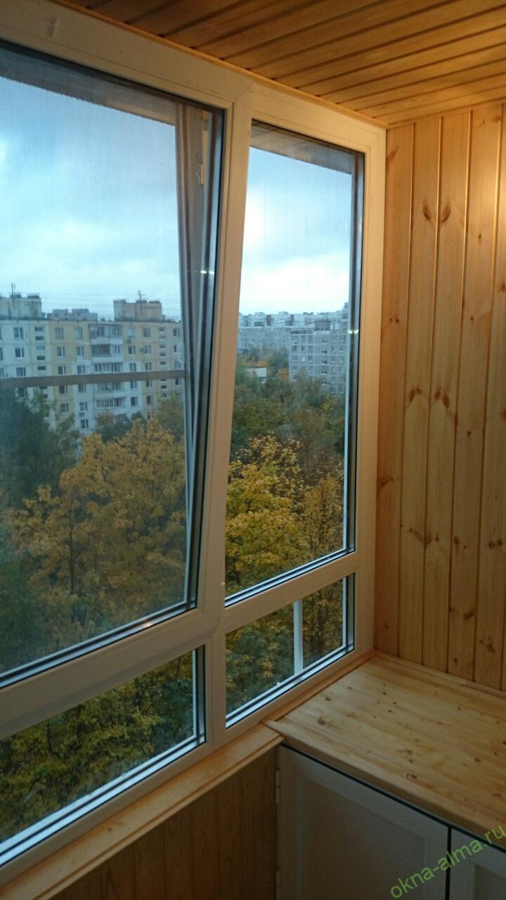 Остекление балконов тёплое.
