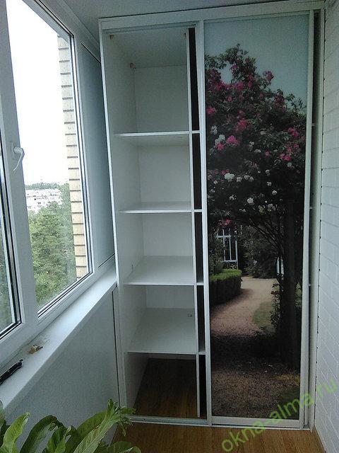 Как красиво сделать шкаф на балконе фото.