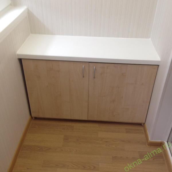 Шкаф на балкон купить недорого встроенный на заказ в москве.