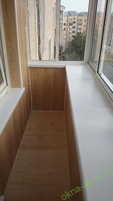 Остекление и отделка балконов и лоджий в химках.